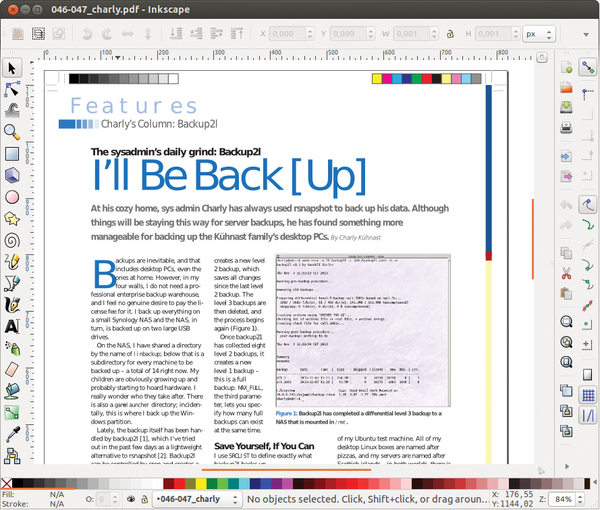 Linux magazine figure 1 inkscape separates the layout from the article text therefore the text can be postprocessed line by line reheart Image collections