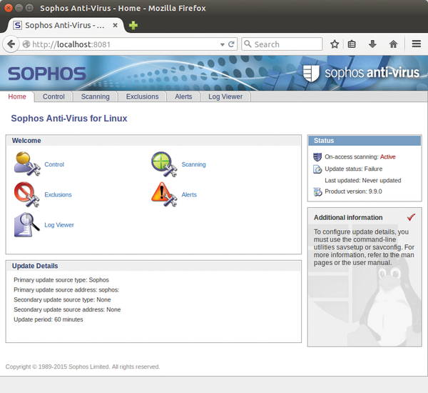 virus definition files for sophos