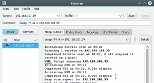 Figure 1: Zenmap wraps Nmap goodies in a simple yet feature-rich Gtk+ user interface.