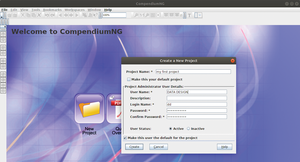 Figure 1: If necessary, use the documentation provided, which comprises text files and several videos to get you started with Compendium. Alternatively, you can launch directly into a new project.