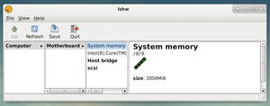 Figure 1: Hardware Lister provides information about a PC's components, including the specifics of the main memory.