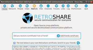 Figure 1: The first time Retroshare launches, it generates a PGP key that serves as the basis for authentication in future connections.