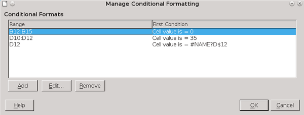 Conditional Formatting in LibreOffice Spreadsheets » Linux