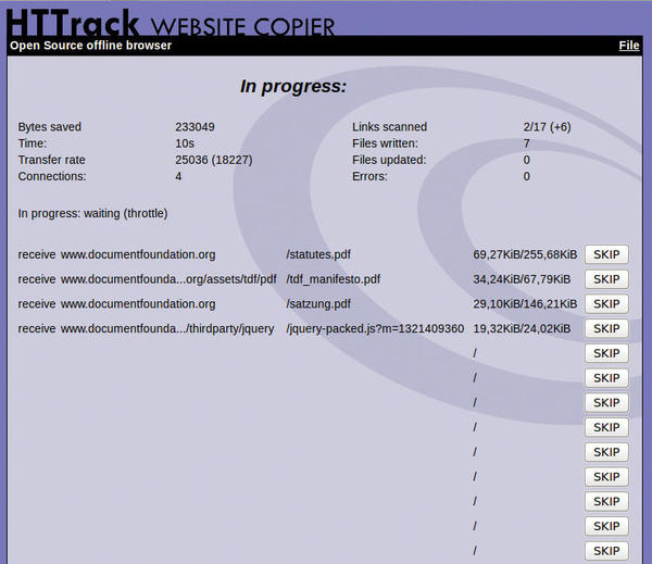 WebHTTrack Website Copier » Linux Magazine