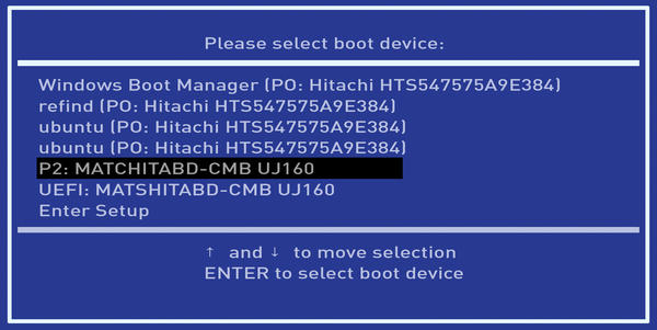 boot windows 10 uefi shell