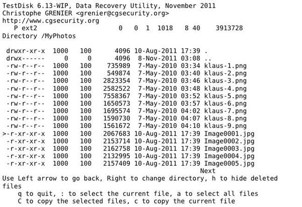 Rescuing Lost Files with TestDisk and PhotoRec » Linux Magazine