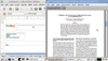 Figure 13: LibreOffice (left) and Adobe Reader (right) running in Knoppix. Note that the proprietary Adobe Reader is not usually part of the Knoppix distribution.
