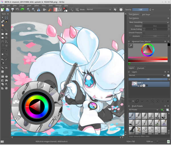 Krita Kde 39 S Powerful Graphics Editor Takes On Linux