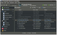 Banshee audio video player screenshot