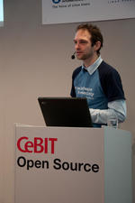 Florian Schiessl at CeBIT Open Source