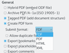 Figure 1: The four PDFs that LibreOffice supports.