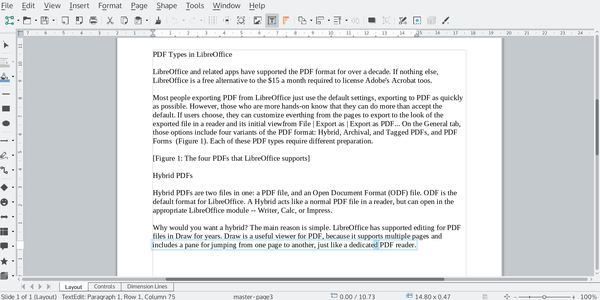 Pdf Types In Libreoffice Linux Magazine