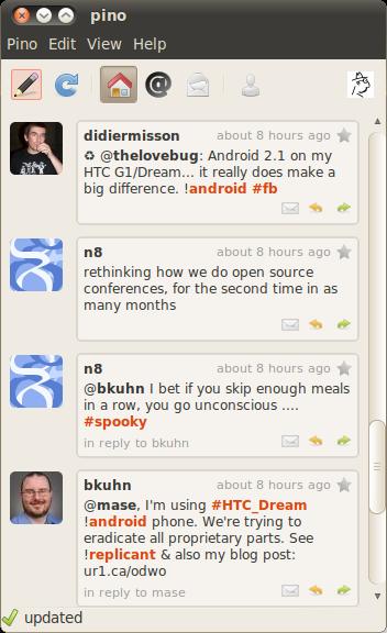 Pino: Lightweight Microblogging Client » Linux Magazine