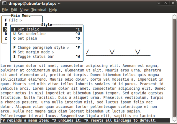 WordGrinder: Word Processing Terminal Style » Linux Magazine