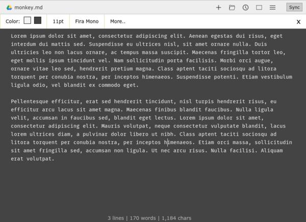 Writebox: Almost Perfect Chrome/Chromium Text E    » Linux